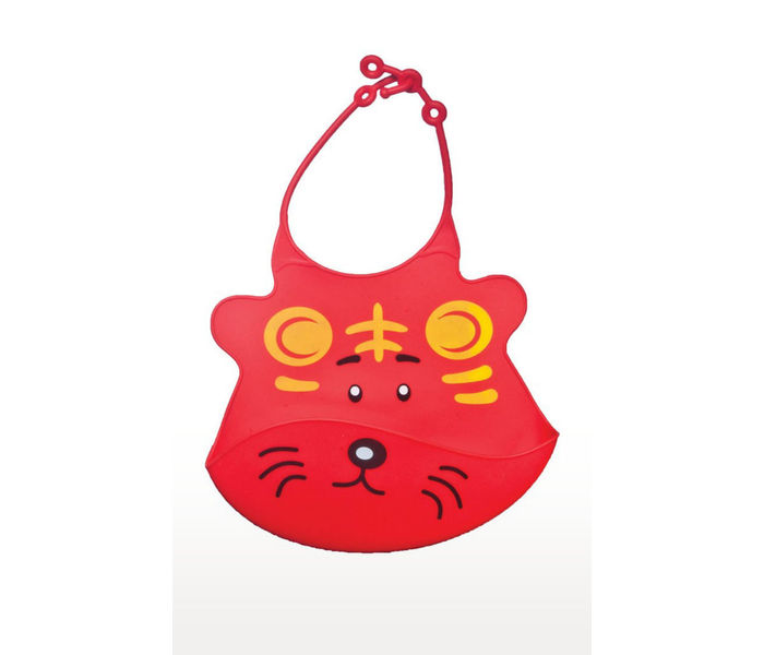 Red Water Resistant Drooler Bib