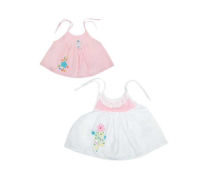 Mee Mee Cotton Sleeveless Jabla Frock Pack Of 3