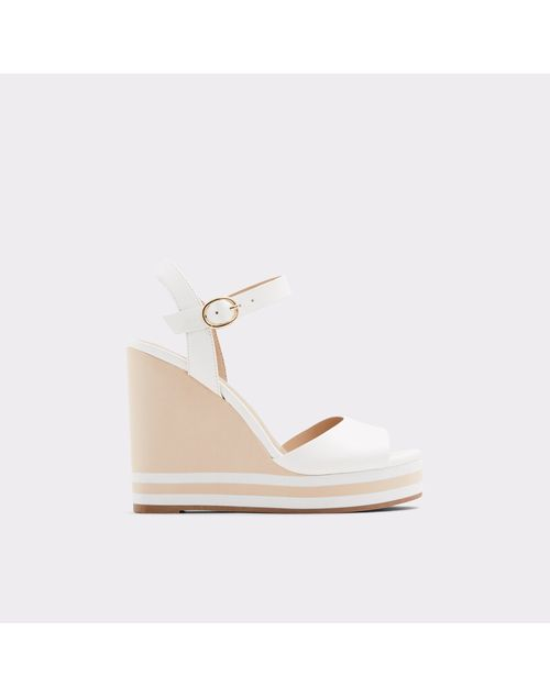 ALDO WOMEN WHITE WEDGES