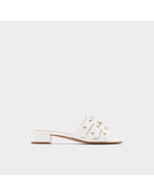 ALDO Women White Block Heels