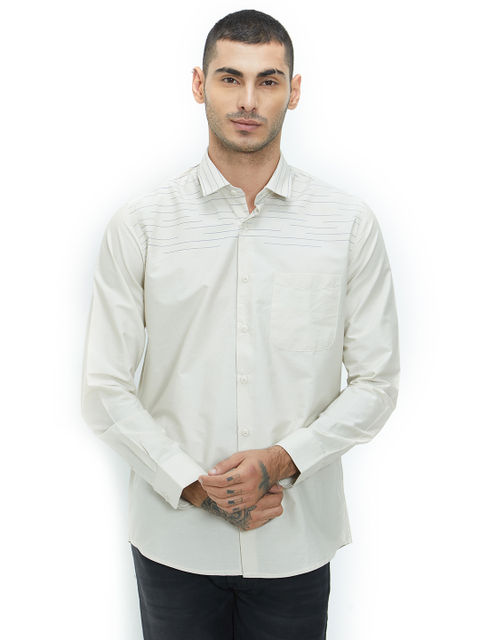 Solid Green Color Cotton Slim Fit Shirt
