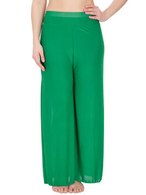Secret Wish Women's Green Palazzo Trouser