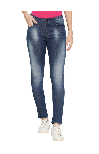 Spykar Cotton Mid Rise Skinny Ankle Length Fit Jeans (Adora)