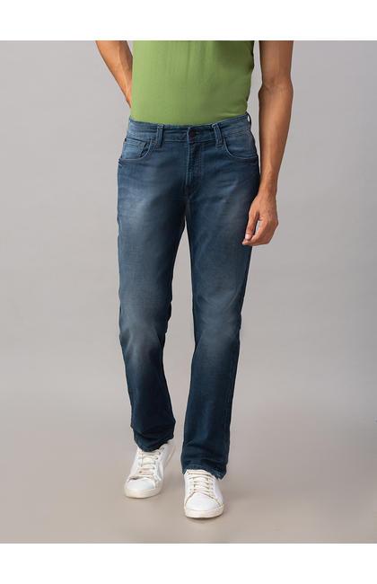 Spykar Grey Cotton Comfort Fit Jeans (Ricardo)