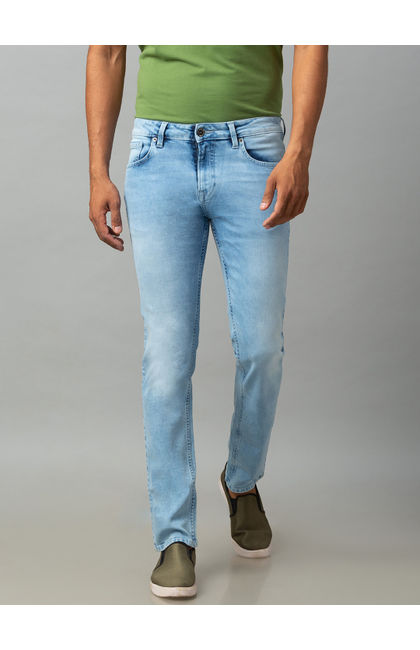 Spykar Blue Cotton Comfort Fit Jeans (Ricardo)