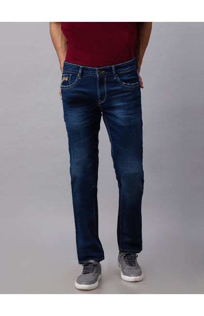 Spykar Blue Cotton Slim Fit Jeans (Slim)