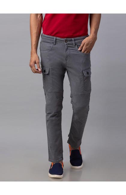 Spykar Grey Cotton Slim Fit Jeans (Slim)