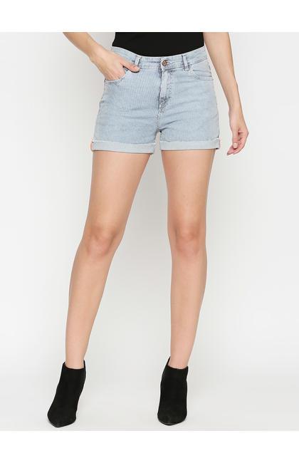 Spykar Cotton Low Rise Slim Fit Shorts (Slim)