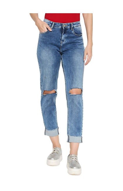 Spykar Blue Cotton Low Rise Skinny Fit Jeans (Skinny)