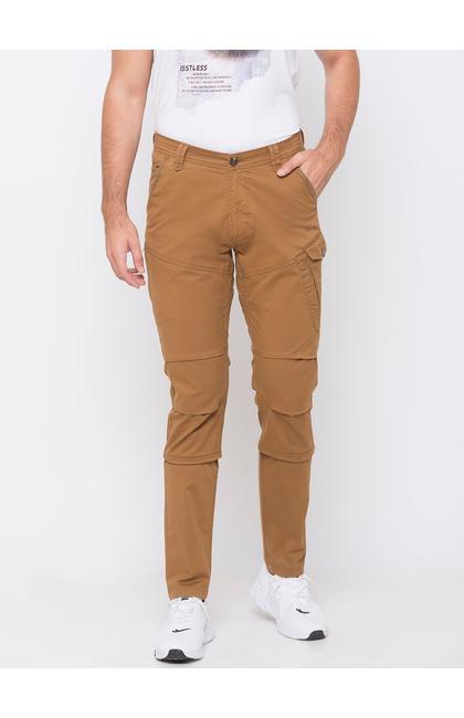 spykar Yellow Cotton Trousers