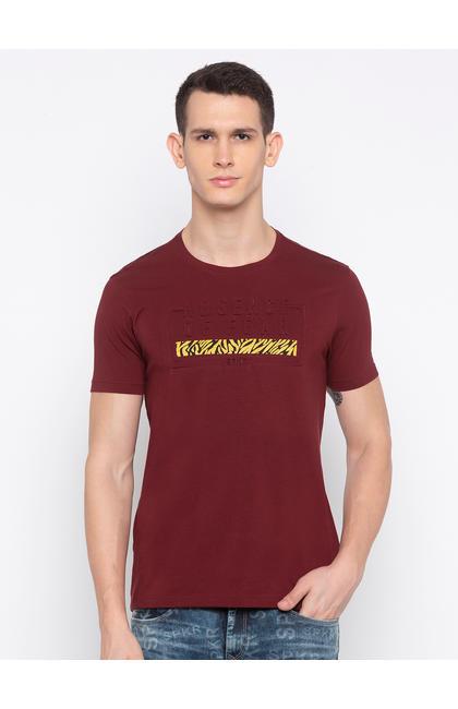 Maroon Printed T-Shirt