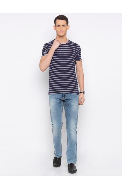 Light Blue Solid Skinny Fit Jeans