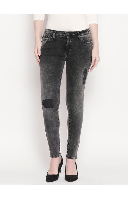 Carbon Black Low-rise Waist Super Skinny Fit Jeans
