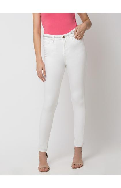 Spykar Cotton white JEANS
