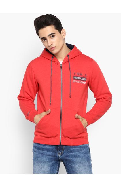Red Solid Hoodie