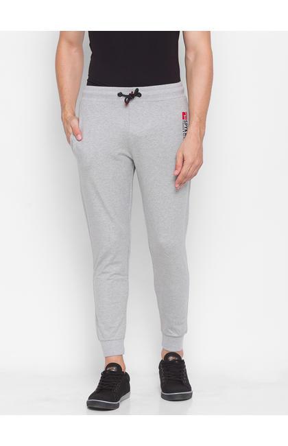 Spykar Grey Cotton Men Trackpants