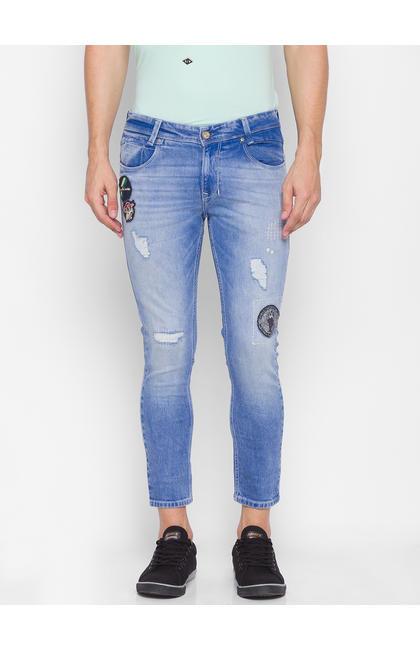 Spykar Blue Cotton Men Jeans (ROVER)