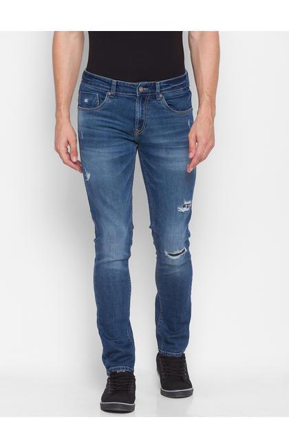 Spykar Blue Cotton Men Jeans (KANO)