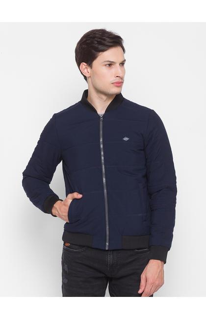 Spykar Blue Polyester Men Jacket