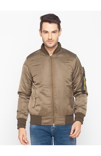 Spykar Green Polyester Men Jacket