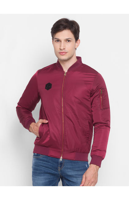 Spykar Red Polyester Men Jacket