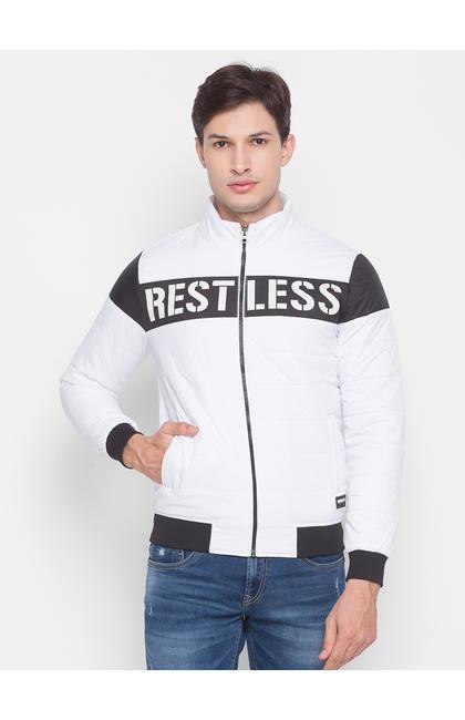 Spykar White Polyester Men Jacket