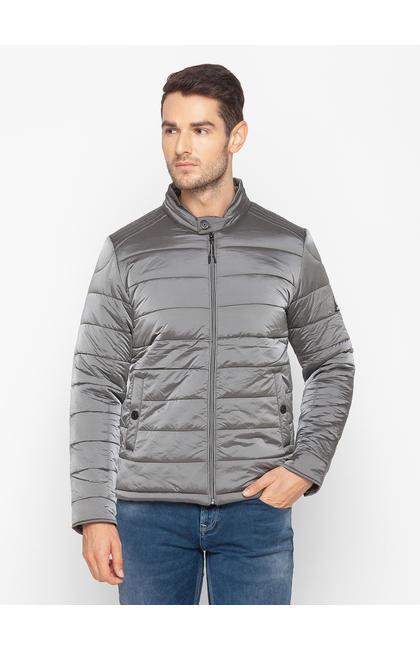 Spykar Grey Polyester Men Jacket