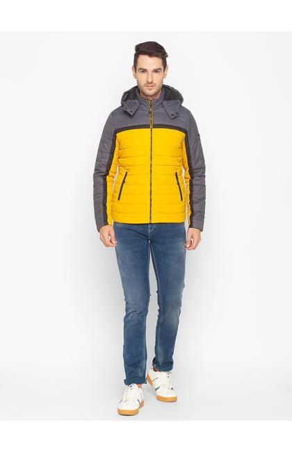 Spykar Yellow Polyester Men Jacket