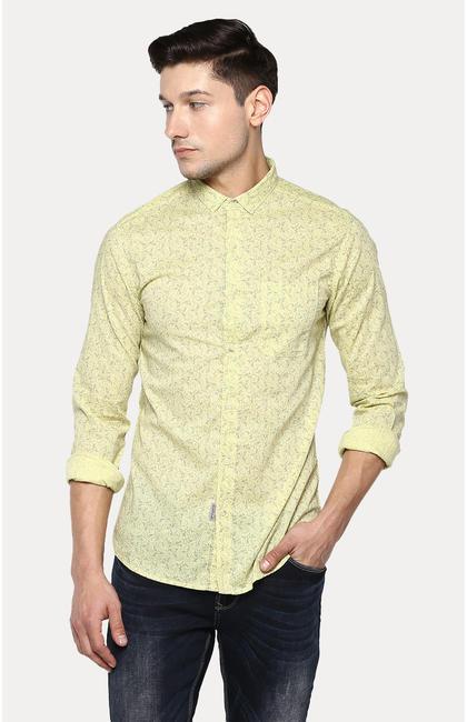 Lemon Printed Slim Fit Casual Shirts