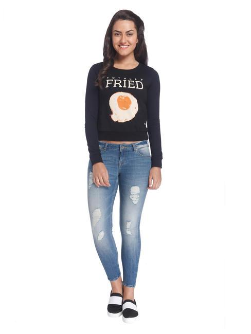 Printed Casual Sweatshirt