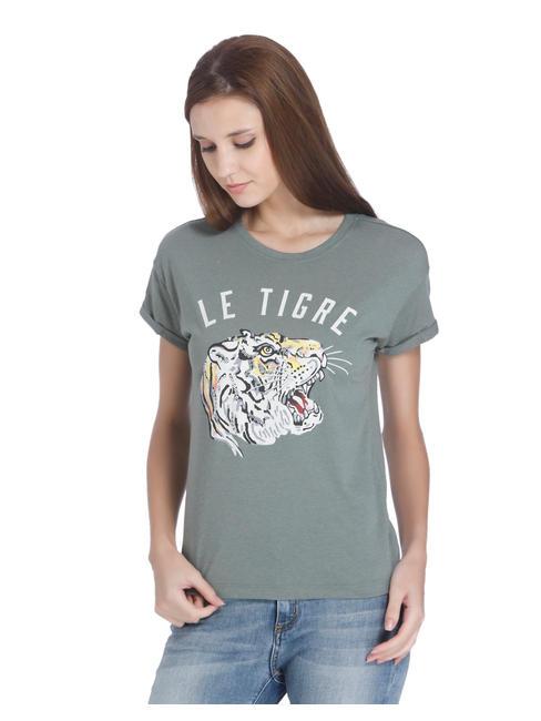 Green Tiger Print T-Shirt
