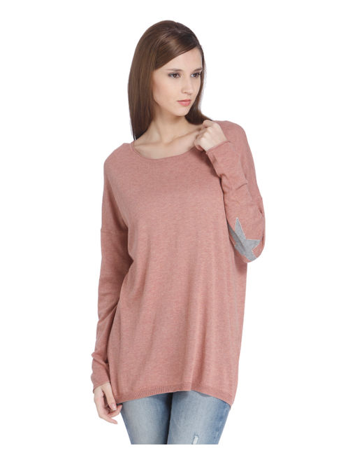 Pink Star Print Pullover