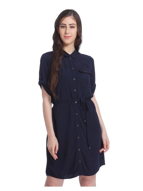 Dark Blue Shirt Dress