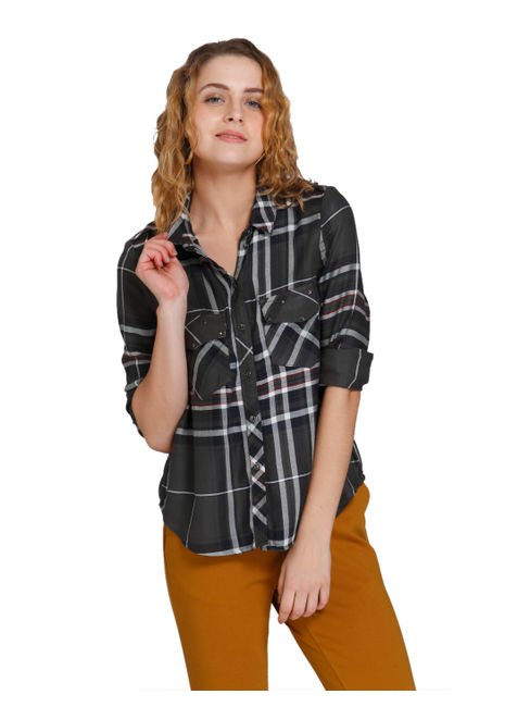 Dark Grey Check Shirt