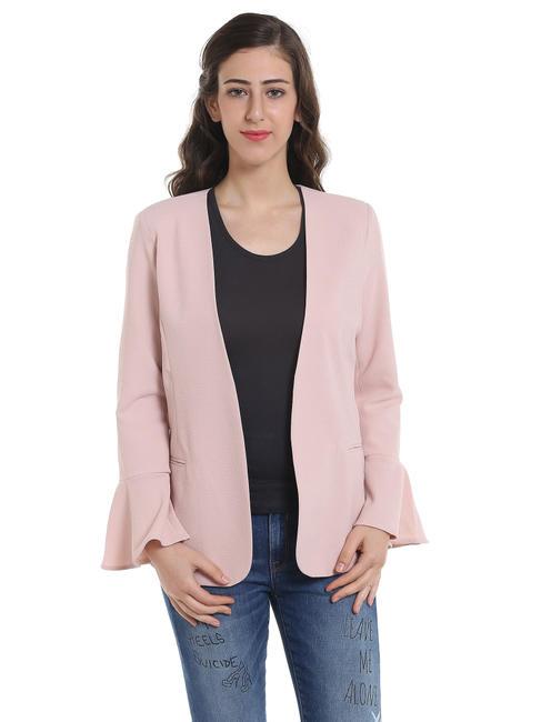 Light Pink Bell Sleeves Blazer