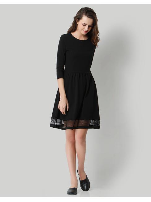 Black Mesh Sheath Dress