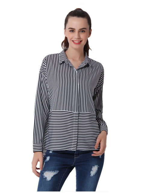 Black Striped Oversized Shirt