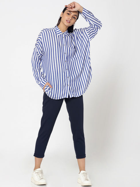 Blue Striped Shirt