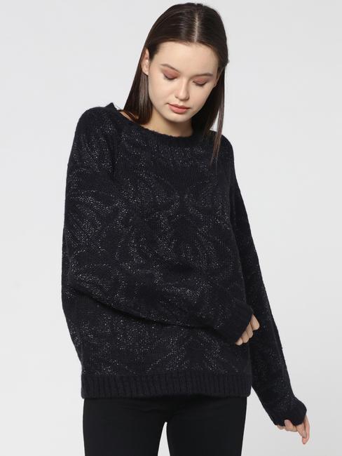 Dark Blue Glittery Pullover