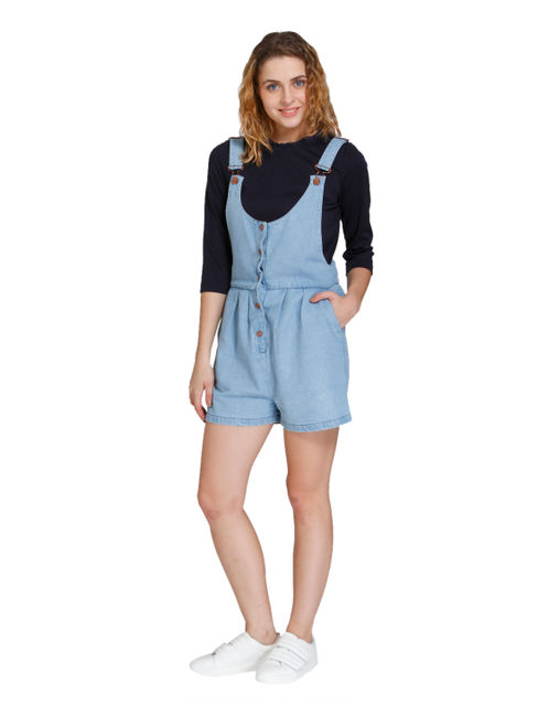 Light Blue Short Dungaree