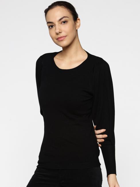 Black Slim Fit Pullover