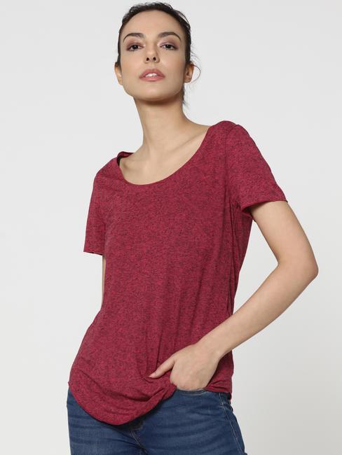 Dark Pink Long T-Shirt