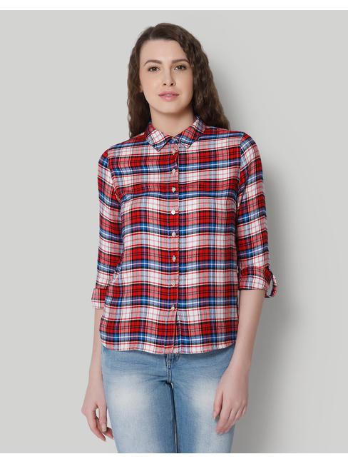 Red & Blue Check Shirt