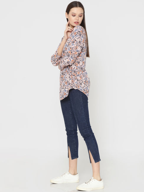 Pink All Over Print Top