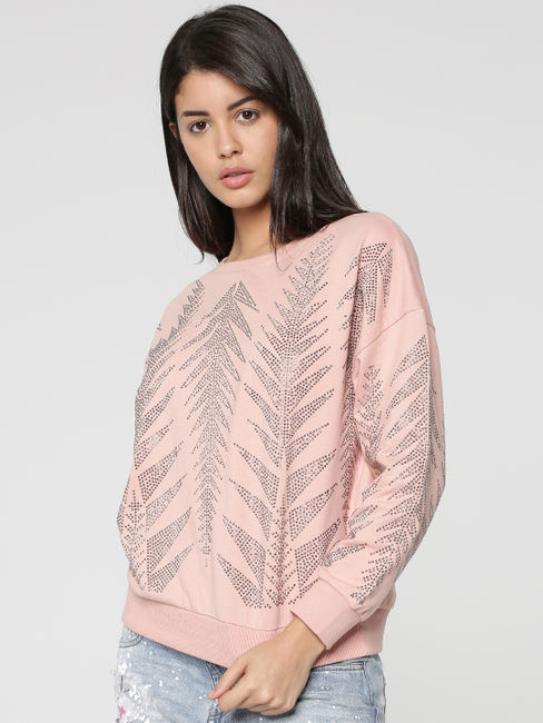 Rose Embellished Sweatshirt