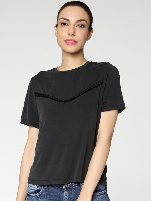 Black Yoke Detail Top