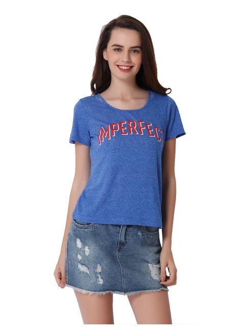 Blue Imperfect Print T-Shirt
