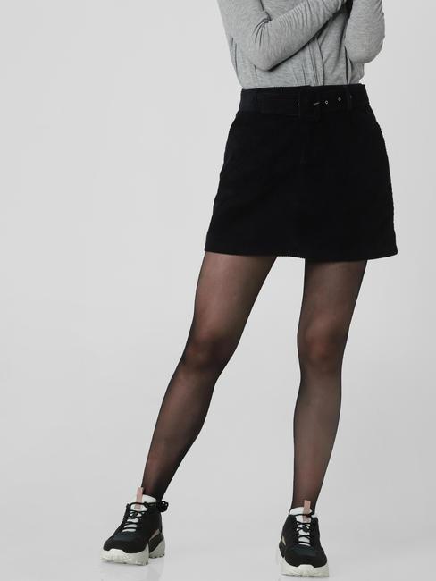 Navy Blue High Rise Mini Skirt