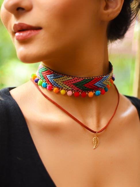 Women Multicoloured Choker Necklace