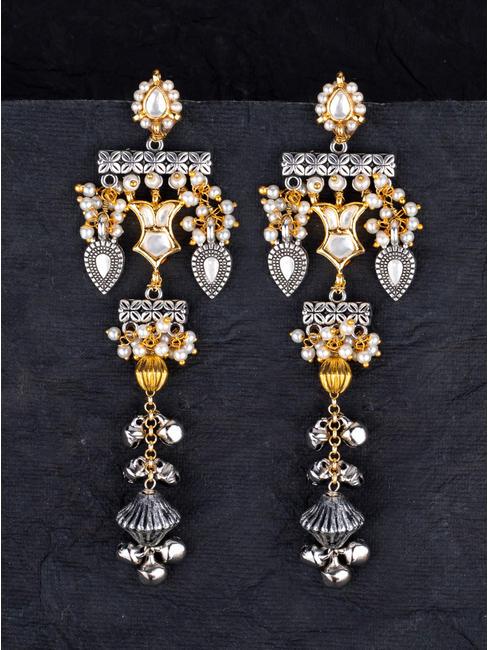 Silvery Drop Earrings